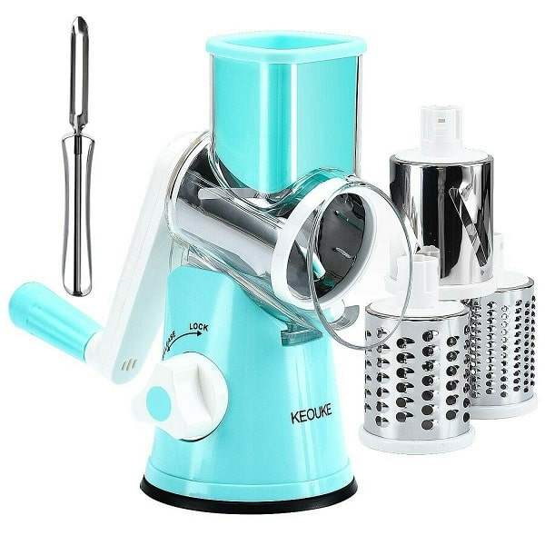 KEOUKE Rotary Cheese Grater Slicer