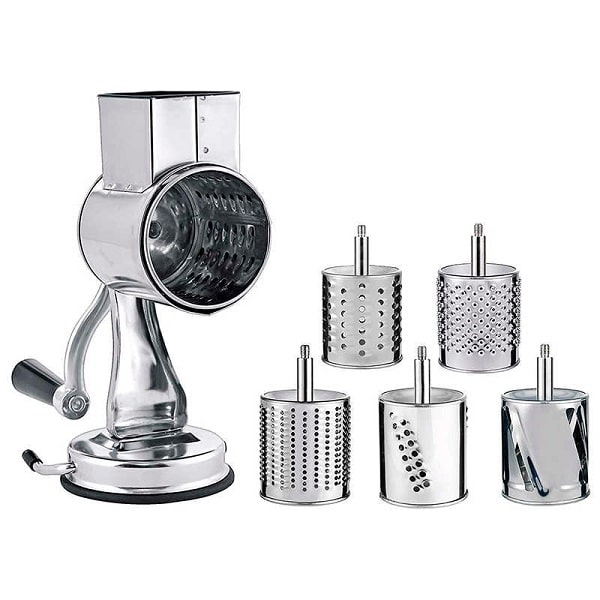 MASTER FENG Stainless Steel Cheese Grater Rotary Chopper